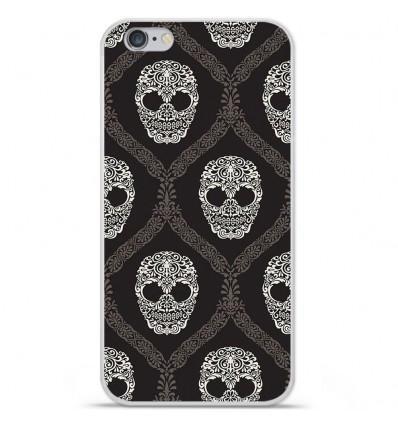 Coque en silicone Apple iPhone 6 / 6s - Floral skull