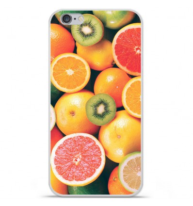 Coque en silicone Apple iPhone 6 / 6S - Fruits