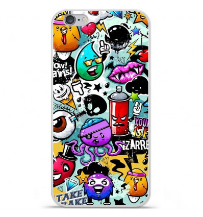 Coque en silicone Apple iPhone 6 / 6S - Graffiti 2