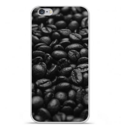 Coque en silicone Apple iPhone 6 / 6S - Grains de café