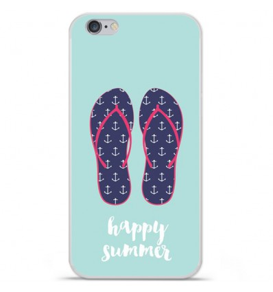 Coque en silicone Apple iPhone 6 / 6S - Happy summer