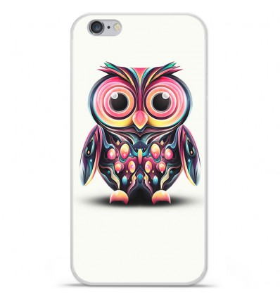 Coque en silicone Apple iPhone 6 / 6S - Hiboux coloré