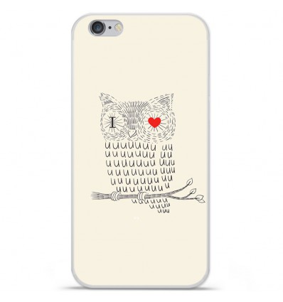 Coque en silicone Apple iPhone 6 / 6S - I Love Hiboux