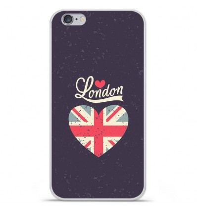 Coque en silicone Apple iPhone 6 / 6S - I love London