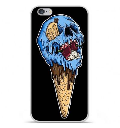 Coque en silicone Apple iPhone 6 / 6S - Ice cream skull