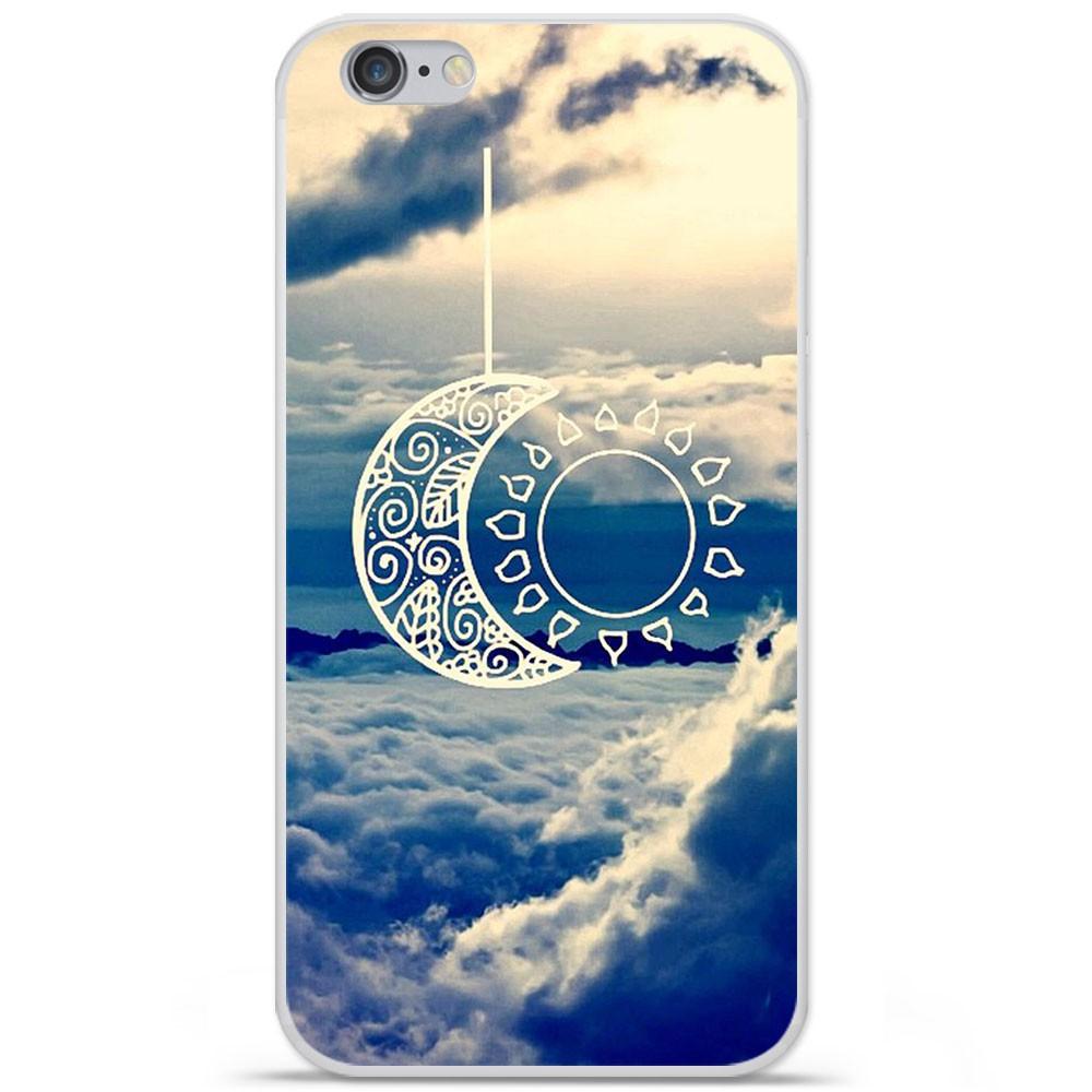 Coque en silicone Apple iPhone 6 / 6S - Lune soleil