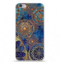 Coque en silicone Apple iPhone 6 / 6S - Mandalla bleu