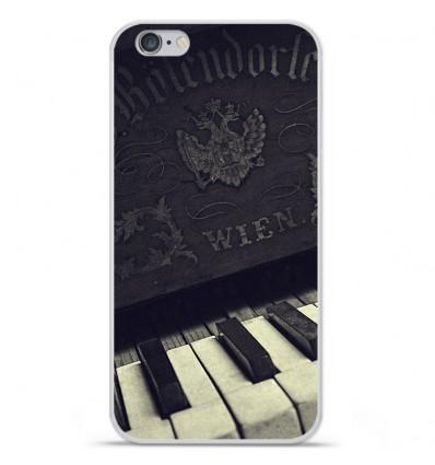 Coque en silicone Apple iPhone 6 / 6S - Old piano