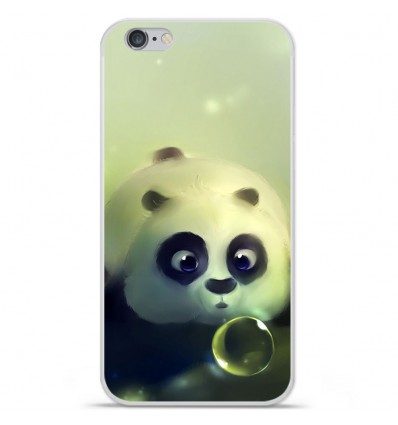 Coque en silicone Apple iPhone 6 / 6S - Panda Bubble