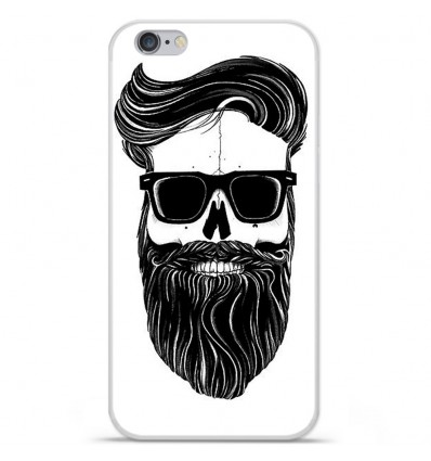 Coque en silicone Apple iPhone 6 / 6S - Skull Hipster