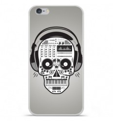 Coque en silicone Apple iPhone 6 / 6S - Skull Music