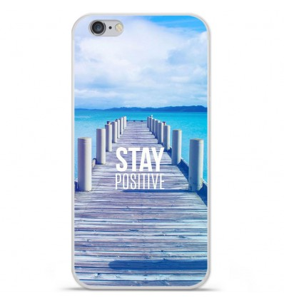 Coque en silicone Apple iPhone 6 / 6S - Stay positive