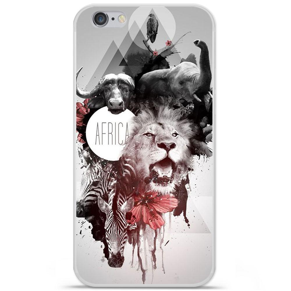 coque en silicone apple iphone 6 plus 6s plus africa swag