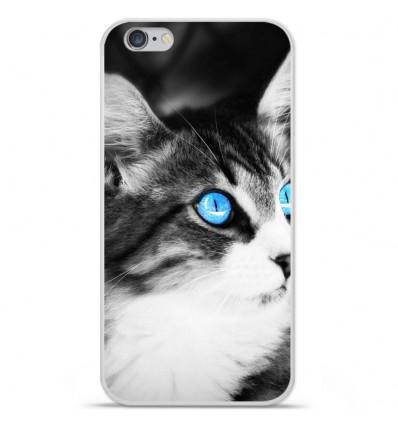 Coque en silicone Apple iPhone 6 Plus / 6S Plus - Chat yeux bleu