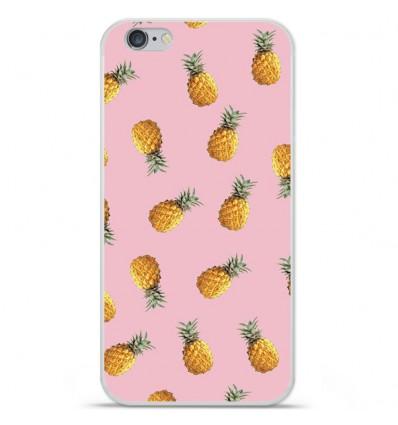 Coque en silicone Apple iPhone 6 Plus / 6S Plus - Pluie d'ananas