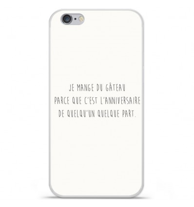Coque en silicone Apple iPhone 6 Plus / 6S Plus - Citation 12