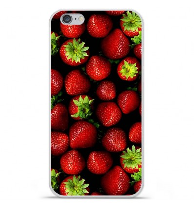 Coque en silicone Apple iPhone 6 Plus / 6S Plus - Fraises