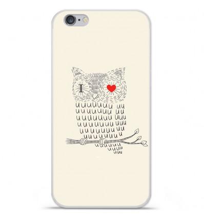 Coque en silicone Apple iPhone 6 Plus / 6S Plus - I Love Hiboux