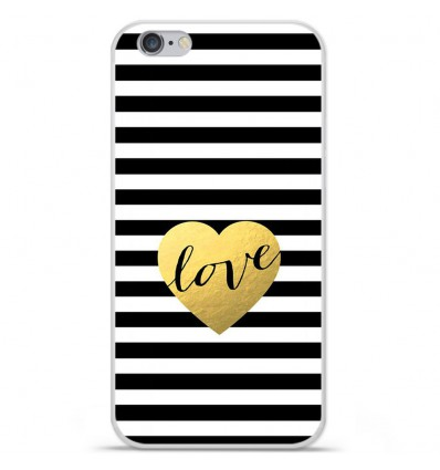 Coque en silicone Apple iPhone 6 Plus / 6S Plus - Love bariolé