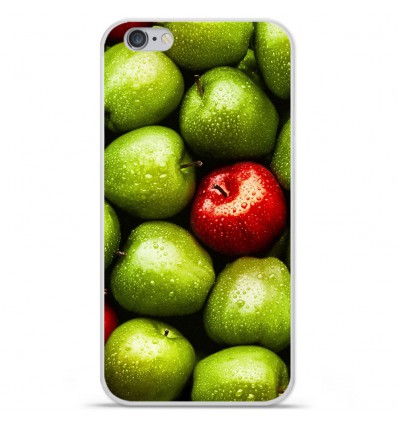 Coque en silicone Apple iPhone 6 Plus / 6S Plus - Pommes