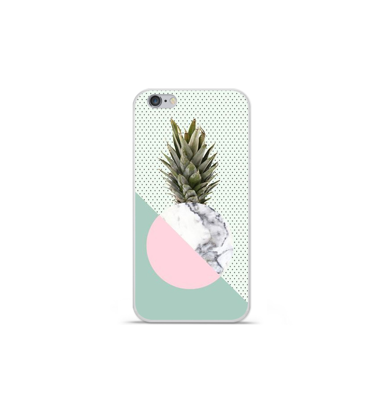 coque iphone 7 ananas noir