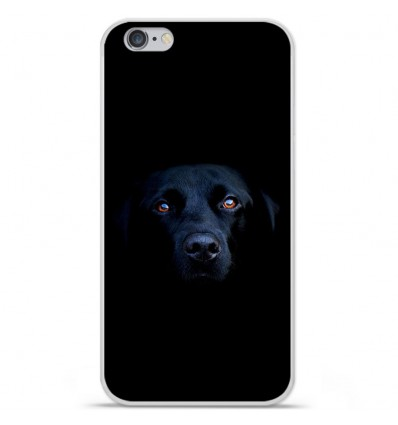Coque en silicone Apple IPhone 7 - Chien noir