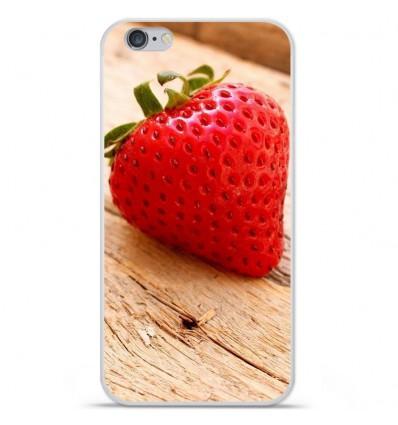 Coque en silicone Apple IPhone 7 - Envie d'une fraise