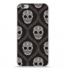 Coque en silicone Apple IPhone 7 - Floral skull