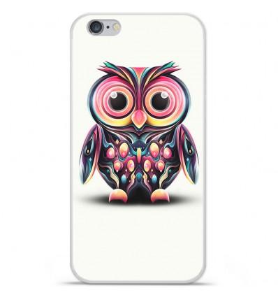 Coque en silicone Apple iPhone 7 - Hiboux coloré