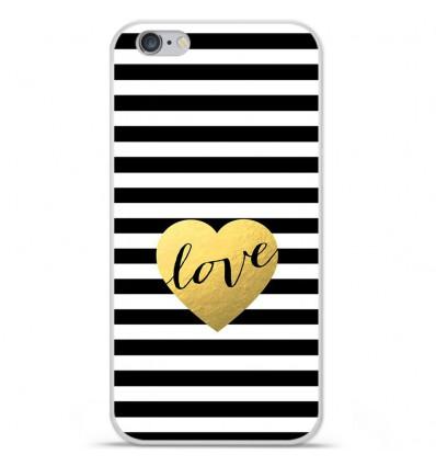 Coque en silicone Apple IPhone 7 - Love bariolé