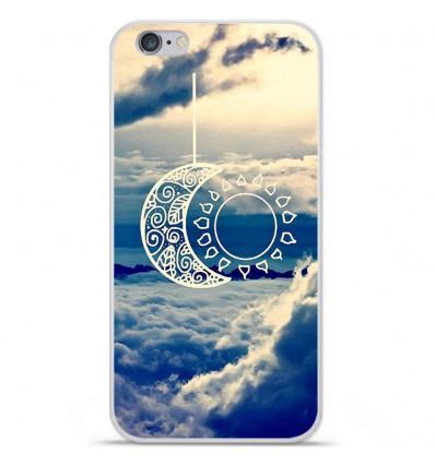 Coque en silicone Apple IPhone 7 - Lune soleil