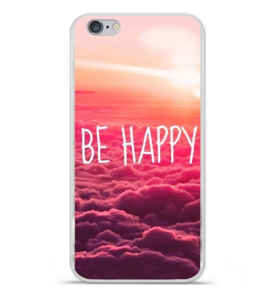 Coque en silicone Apple IPhone 7 Plus - Be Happy nuage