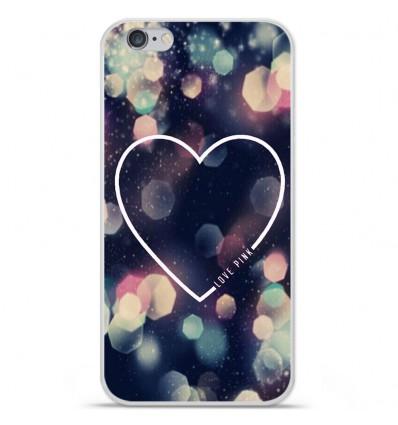 Coque en silicone Apple IPhone 7 Plus - Coeur Love