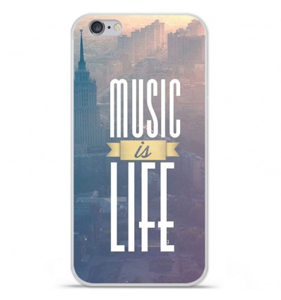 Coque en silicone Apple IPhone 7 Plus - Music is life