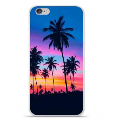Coque en silicone Apple IPhone 7 Plus - Palmiers colorés