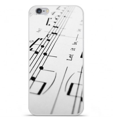 Coque en silicone Apple IPhone 7 Plus - Partition de musique
