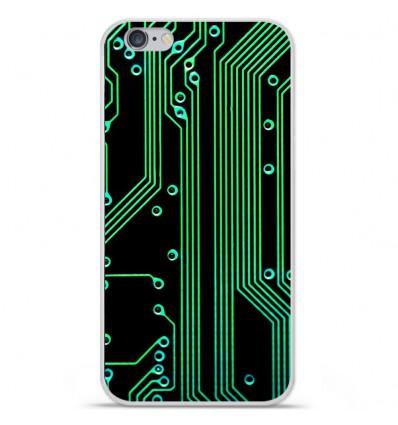 Coque en silicone Apple iPhone 7 Plus - Texture circuit geek