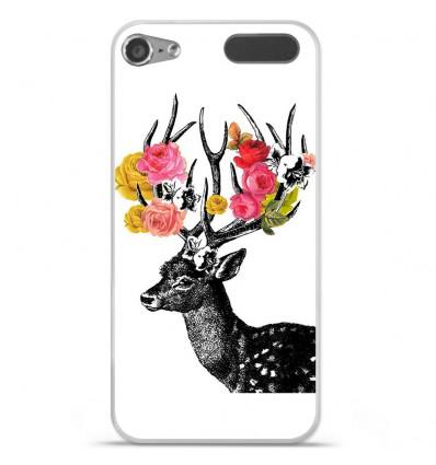 Coque en silicone Apple iPod Touch 5 / 6 - Cerf fleurs
