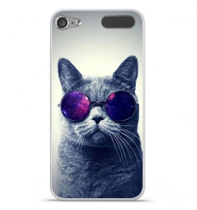 Coque en silicone Apple iPod Touch 5 / 6 - Chat à lunette