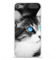 Coque en silicone Apple iPod Touch 5 / 6 - Chat yeux bleu