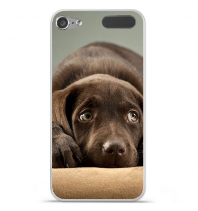 Coque en silicone Apple iPod Touch 5 / 6 - Chiot marron