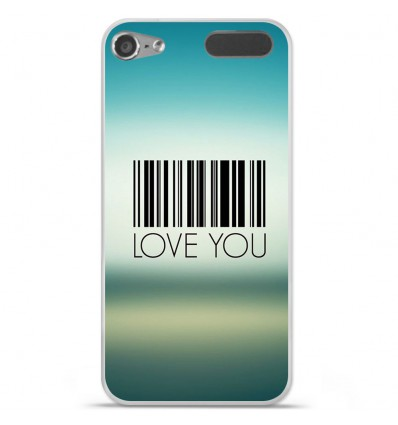 Coque en silicone Apple iPod Touch 5 / 6 - Code barre Love you