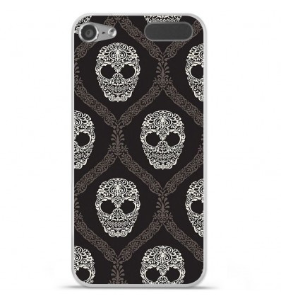 Coque en silicone Apple iPod Touch 5 / 6 - Floral skull