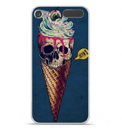 Coque en silicone Apple iPod Touch 5 / 6 - Ice cream skull blue