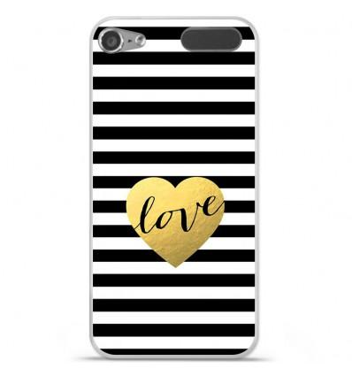Coque en silicone Apple iPod Touch 5 / 6 - Love bariolé