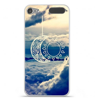 Coque en silicone Apple iPod Touch 5 / 6 - Lune soleil