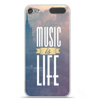 Coque en silicone Apple iPod Touch 5 / 6 - Music is life