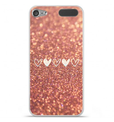 Coque en silicone Apple iPod Touch 5 / 6 - Paillettes coeur