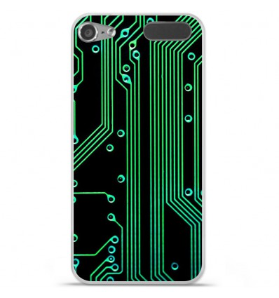Coque en silicone Apple iPod Touch 5 / 6 - Texture circuit geek