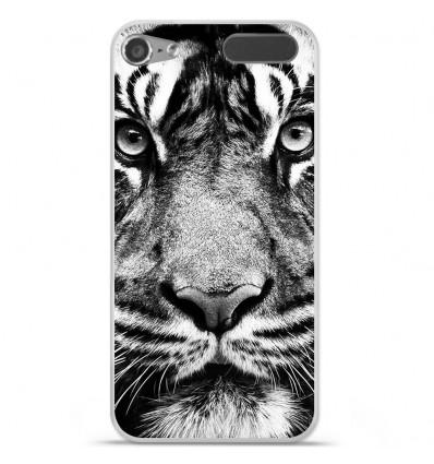 Coque en silicone Apple iPod Touch 5 / 6 - Tigre blanc et noir